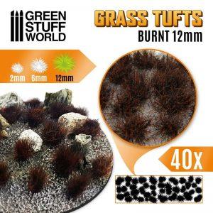 Green Stuff World   Tufts Grass TUFTS - 12mm self-adhesive - BURNT - 8435646501673ES - 8435646501673
