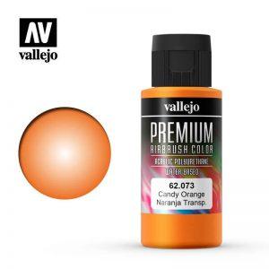 Vallejo   Premium Airbrush Colour Premium Color 60ml: Candy Orange - VAL62073 - 8429551620734