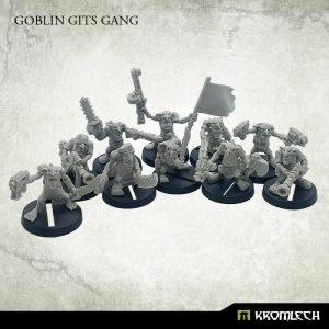 Kromlech   Orc Model Kits Goblin Gits Gang (10) - KRM143 - 5902216117495