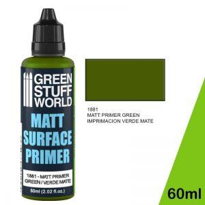 Green Stuff World   Surface Primers Matt Surface Primer 60ml - Green - 8436574502404ES - 8436574502404