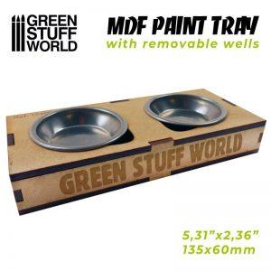 Green Stuff World   Paint Palettes MDF Paint Tray - 8436574509083ES - 8436574509083