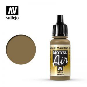 Vallejo   Model Air Model Air: German Yellow Brown - VAL71272 - 8429551712729