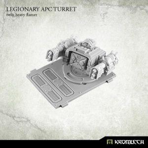 Kromlech   Legionary Conversion Parts Legionary APC turret: Twin Heavy Flamer (1) - KRVB024 - 5902216113756