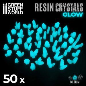 Green Stuff World   Green Stuff World Conversion Parts AQUA TURQUOISE GLOW Resin Crystals - Medium - 8436574508925ES - 8436574508925
