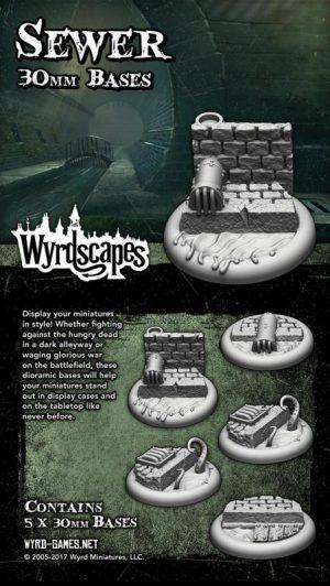 Wyrd   Sewer Bases Wyrdscapes Sewer 30mm Bases - 5 Pack - WYRWS004 - 813856018545