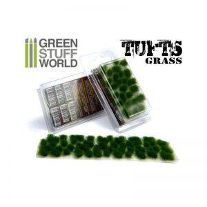 Green Stuff World   Tufts Grass TUFTS - 6mm self-adhesive - DARK GREEN - 8436554362448ES - 8436554362448