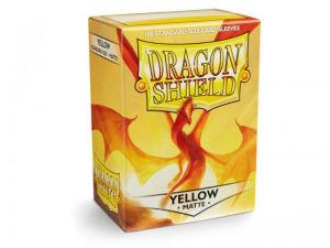 Dragon Shield   Dragon Shield Dragon Shield Sleeves Matte Yellow (100) - DS100MY - 5706569110147