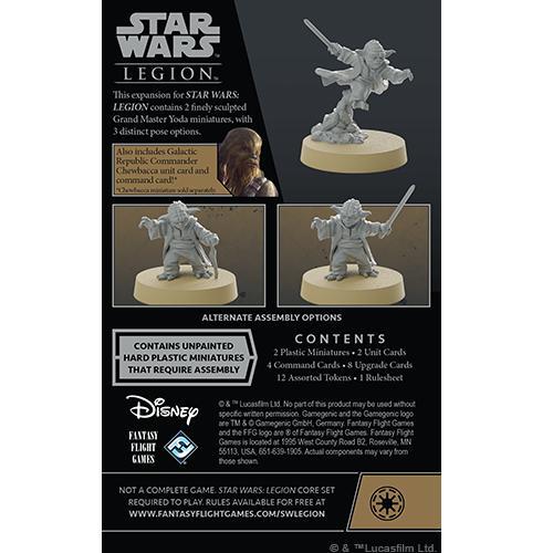 Fantasy Flight Games Star Wars: Legion  The Galactic Republic - Legion Star Wars Legion: Grand Master Yoda Commander - FFGSWL82 - 841333113261