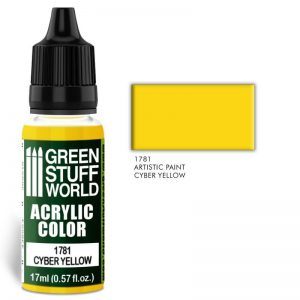 Green Stuff World   Acrylic Paints Acrylic Color CYBER YELLOW - 8436574501407ES - 8436574501407