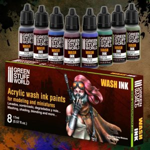 Green Stuff World   Paint Sets Set x8 Acrylic Wash Ink Paints - 8436554368495ES - 8436554368495