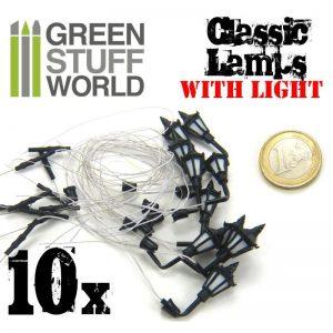 Green Stuff World   Lighting & LEDs 10x Classic Lamps with LED Lights - 8436554367689ES - 8436554367689