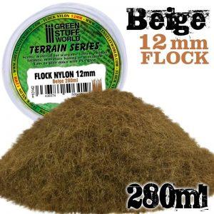 Green Stuff World   Sand & Flock Static Grass Flock 12mm - Beige - 280 ml - 8436574506419ES - 8436574506419