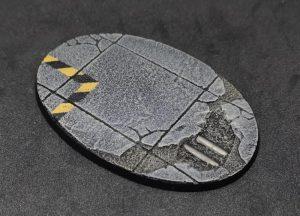 Baker Bases   Concrete Concrete: 105x70mm Oval Bases (1) - CB-CN-01-105 - CB-CN-01-105
