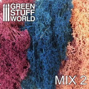 Green Stuff World   Lichen & Foliage Islandmoss - Blue Violet and Light Pink Mix - 8436554368259ES - 8436554368259