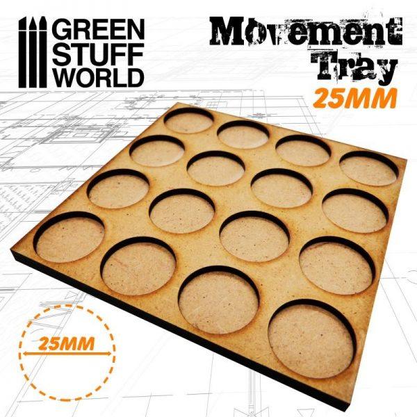 Green Stuff World   Movement Trays MDF Movement Trays 25mm 4x4 -  Skirmish Lines - 8436574502879ES - 8436574502879