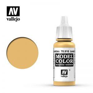 Vallejo   Model Colour Model Color: Sand Yellow - VAL916 - 8429551709163