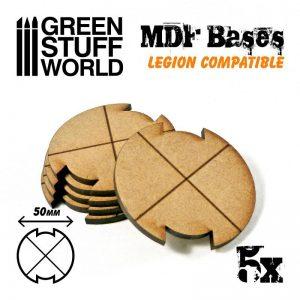 Green Stuff World   MDF Bases MDF Bases - Round 50mm (Legion) - 8435646502298ES - 8435646502298