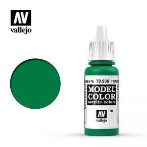 Vallejo   Model Colour Model Color: Transparent Green - VAL936 - 8429551709361