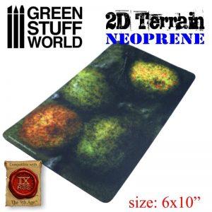 Green Stuff World   Green Stuff World Terrain 2D Neoprene Terrain - Forest with 4 trees - 8436574504491ES - 8436574504491