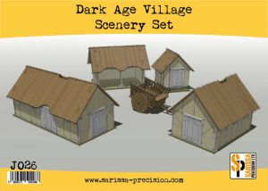 Warlord Games   Sarissa Precision Dark Age Village Scenery Set - J026 - 5060572504288