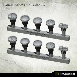 Kromlech   Misc / Weapons Conversion Parts Large Industrial Gauges (10) - KRBK031 - 5902216117808