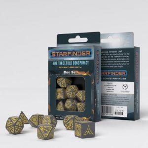 Q-Workshop   Q-Workshop Dice Starfinder Threefold Conspiracy Dice Set (7) - STAR3C - 5907699495696