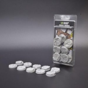 Gamers Grass   Temple Resin Bases Temple Bases Round 32mm (x10) - GGRB-TR32 - 738956789594