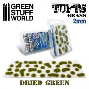 Green Stuff World   Tufts Grass TUFTS - 2mm self-adhesive - DRY GREEN - 8436574506976ES - 8436574506976