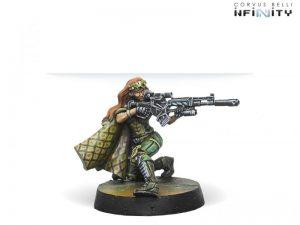 Corvus Belli Infinity  Non-Aligned Armies - NA2 Major Lunah, Ex-Aristeia! Sniper (Viral Sniper Rifle) - 280724-0656 - 2807240006568