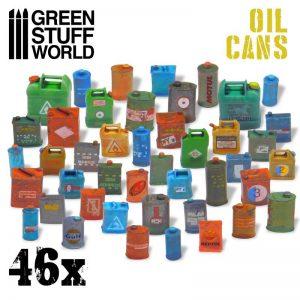 Green Stuff World   Green Stuff World Conversion Parts 46x Resin Oil Cans - 8436574507225ES - 8436574507225