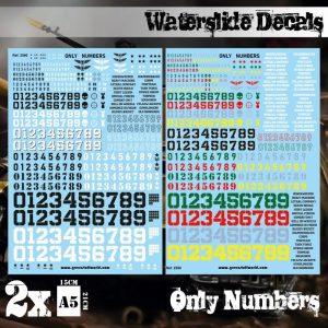 Green Stuff World   Decals Waterslide Decals - Only Numbers - 8436574509496ES - 8436574509496