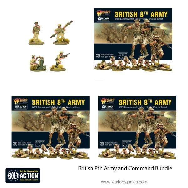 Warlord Games Bolt Action  Great Britain (BA) British 8th Army and Command Bundle - 409911015 -
