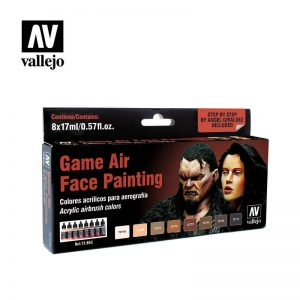 Vallejo   Paint Sets Vallejo Game Air - Face Painting Set (x8) - VAL72865 - 8429551728652