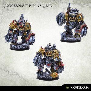 Kromlech   Orc Model Kits Juggernaut Rippa Squad (3) - KRM050 - 5902216111738