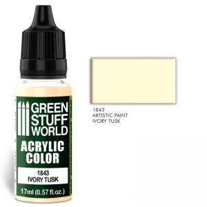 Green Stuff World   Acrylic Paints Acrylic Color IVORY TUSK - 8436574502022ES - 8436574502022