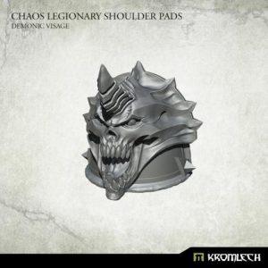 Kromlech   Heretic Legionary Conversion Parts Chaos Legionary Shoulder Pads: Demon Visage (10) - KRCB233 - 5902216119161