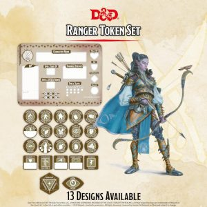 Gale Force Nine Dungeons & Dragons  D&D Extras D&D: Ranger Token Set (Player Board & 23 tokens) - GFN72507 - 9420020251137