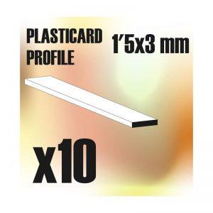 Green Stuff World   Plasticard ABS Plasticard - Profile PLAIN 3 mm - 8436554366200ES - 8436554366200