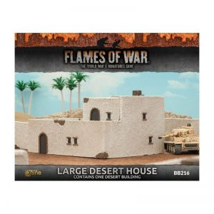 Gale Force Nine   Battlefield in a Box Flames of War: Large Desert House - BB216 - 9420020234895