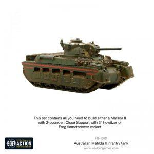 Warlord Games Bolt Action  Australia (BA) Australian Matilda II Infantry Tank - 402415001 - 5060572501324