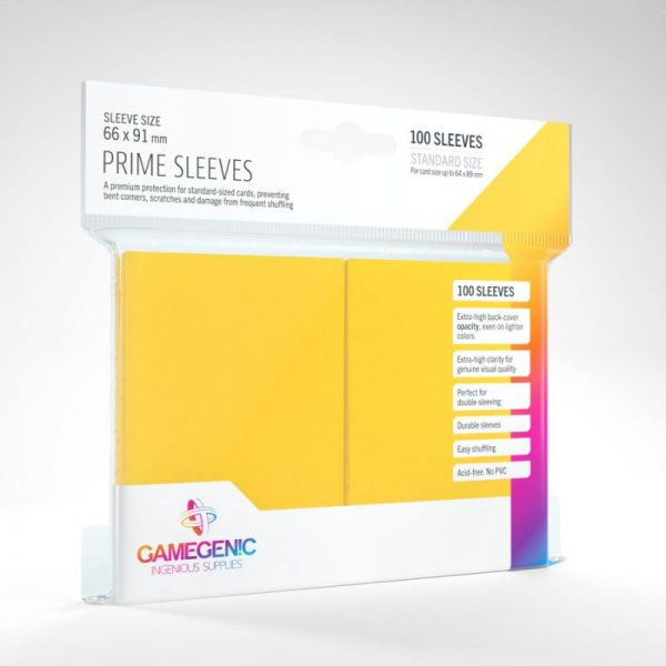 Gamegenic   SALE! Gamegenic Prime Sleeves Yellow (100 pack) - GGS11020ML - 4251715402238