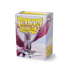 Dragon Shield   Dragon Shield Dragon Shield Sleeves Matte Pink (100) - DS100MPI - 5706569110123