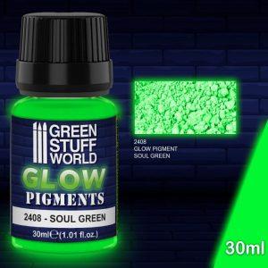 Green Stuff World   Glow in the Dark Pigments Glow in the Dark Pigment - SOUL GREEN - 8436574507676ES - 8436574507676