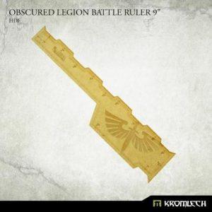 Kromlech   Tapes & Measuring Sticks Obscured Legion Battle Ruler 9in [HDF] - KRGA083 - 5902216119666