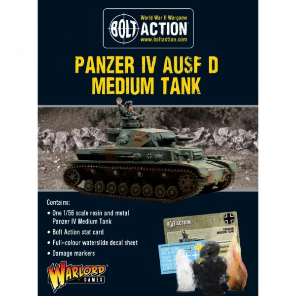 Warlord Games Bolt Action  Germany (BA) German Panzer IV Ausf D - 402412012 - 5060572506039
