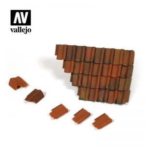 Vallejo   Vallejo Scenics Vallejo Scenics - 1:35 Damaged Roof Section & Tiles - VALSC230 - 8429551984690