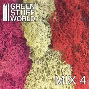 Green Stuff World   Lichen & Foliage Islandmoss - Red Fuchsia and Grey Mix - 8436554368273ES - 8436554368273