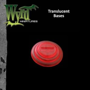 Wyrd   Translucent Bases Red 30mm Translucent Bases - 10 Pack - WYR0046 - 813856013816