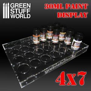 Green Stuff World   Paint Racks Paint Display 30ml (4x7) - 8436574503814ES - 8436574503814