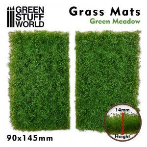 Green Stuff World   Grass Mats Grass Mat Cutouts - Green Meadow - 8436574508369ES - 8436574508369